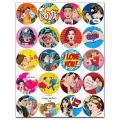 Капкейки-6 см Любовь в стиле поп-арт вафельная картинка фото