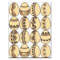 Пасхальные яйца расписные для пряников 5*6,5 вафельная картинка фото